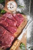 牛肉,小牛肉 新鲜的未加工的里脊肉 库存图片