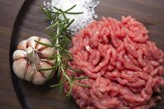 绞细牛肉 免版税库存照片