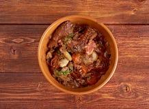 牛肉bourguigno 图库摄影