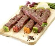 牛肉kebabs 免版税库存图片