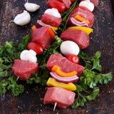 牛肉kebabs 免版税库存照片