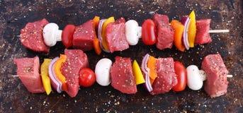牛肉kebabs 图库摄影