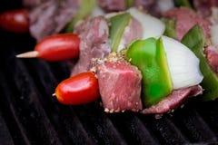 牛肉kebabs 库存照片