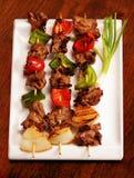 牛肉kebabs shish 库存照片