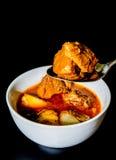 牛肉mussaman咖喱 库存照片
