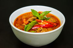 牛肉paneang咖喱 免版税库存照片