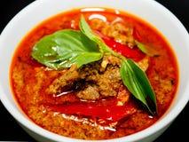 牛肉paneang咖喱 免版税库存图片