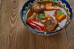 牛肉Vindaloo咖喱 库存图片