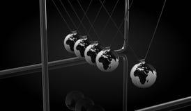 牛顿的摇篮 免版税库存照片
