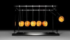 牛顿苹果计算机摇篮-黑色 免版税库存图片