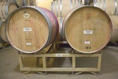 牛顿酿酒厂地窖在纳帕谷 库存照片