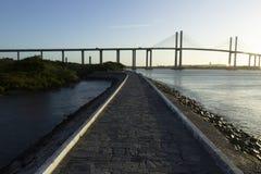 牛顿Navarro桥梁,新生, RN,巴西 库存图片
