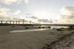 牛顿Navarro桥梁,新生, RN,巴西 图库摄影