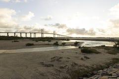 牛顿Navarro桥梁,新生, RN,巴西 库存照片