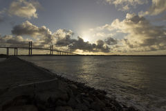 牛顿Navarro桥梁,新生, RN,巴西 免版税库存照片
