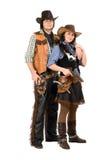 年轻牛仔和女牛仔 免版税库存照片