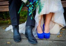 牛仔靴和脚跟 图库摄影