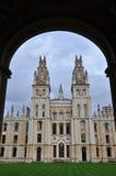 牛津大学的所有灵魂学院 库存图片