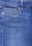 牛仔布裤子的口袋 免版税库存图片