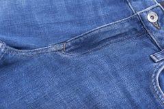 牛仔布裤子的口袋 库存照片