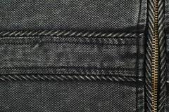黑牛仔布织品 免版税图库摄影