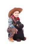 牛仔微笑的一点 免版税库存照片