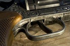牛仔手枪 库存照片