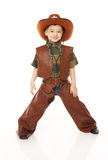 牛仔服装的男孩 库存图片