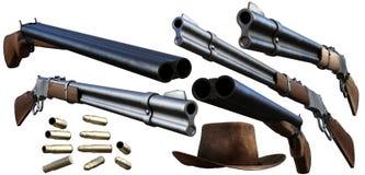 牛仔枪 库存例证