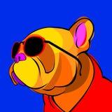 牛头犬狗动物法国传染媒介例证宠物品种逗人喜爱的图画 免版税库存图片