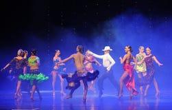 牛仔狂欢节党这cha查家这奥地利的世界舞蹈 图库摄影