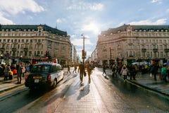 牛津街,伦敦, 13 05 2014年 免版税图库摄影