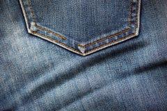 牛仔裤口袋纺织品纹理 免版税图库摄影