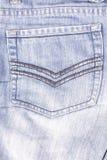 牛仔裤口袋 免版税图库摄影