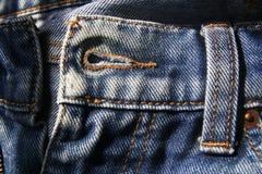 牛仔裤孔按钮  免版税库存照片