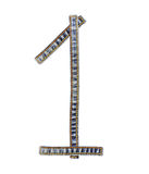 牛仔裤字母表第1一 免版税库存图片