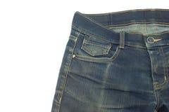 牛仔裤微小的口袋 查出 免版税库存照片