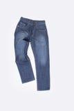 牛仔裤或蓝色牛仔裤在背景 库存照片