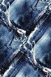 牛仔裤无缝的背景-难看的东西抽象纹理 免版税库存照片