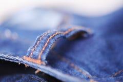 牛仔裤特写镜头 免版税库存照片
