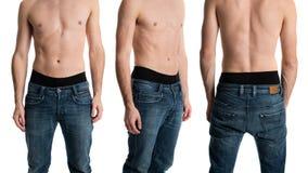 牛仔裤的人 免版税图库摄影