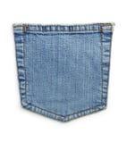 牛仔裤蓝色口袋 免版税库存照片