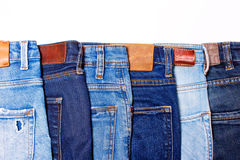 牛仔裤蓝色连续 库存图片