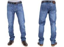 牛仔裤长裤的人 免版税库存照片
