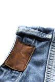 牛仔裤细节 免版税库存图片