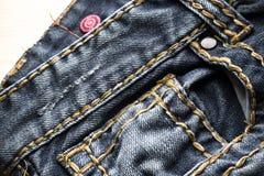 牛仔裤细节 库存图片