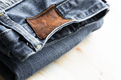牛仔裤细节 免版税库存照片