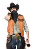 牛仔画象有枪的 库存图片