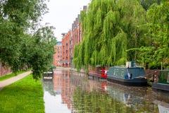 牛津运河。英国 免版税库存照片