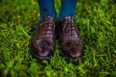 牛津鞋子 免版税图库摄影